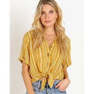 Faithfull the Brand Toulin Shirt Roy Stripe Print